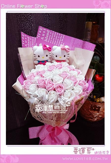香氛玫瑰花束K0602