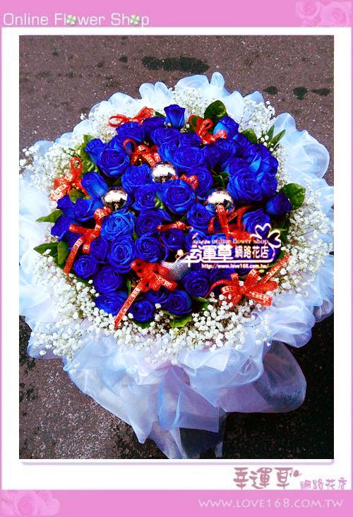 A70進口藍玫花束52