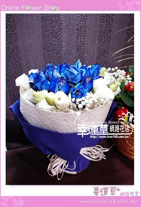藍玫花束A0330