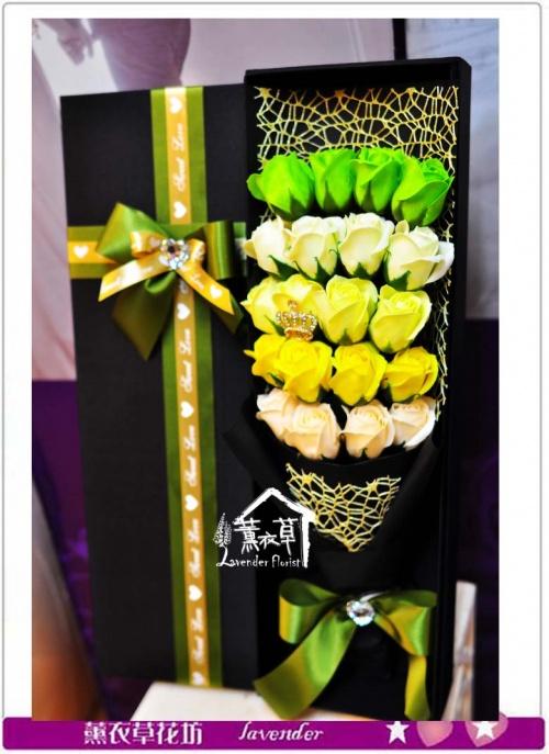 香氛玫瑰花盒~精品款a122210