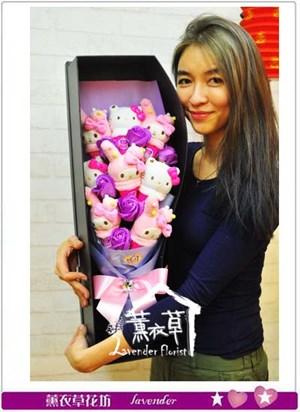 美樂蒂/凱蒂貓花盒設計106011113
