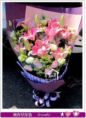 香水百合花束G161