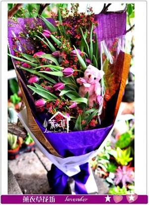 鬱金香花束c101605