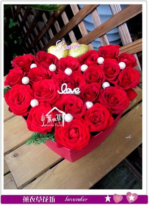 玫瑰心型禮盒c070525