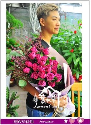 荷蘭進口丹尼爾玫瑰 花束 106092001