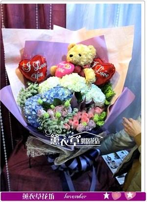熊熊&鮮花設計y34013