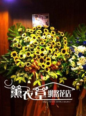 向日葵藝術花柱一個88朵y31593