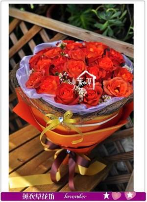 荷蘭進口玫瑰~巧克力色c073003