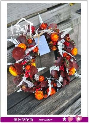 聖誕圈設計~乾燥花設計B122114