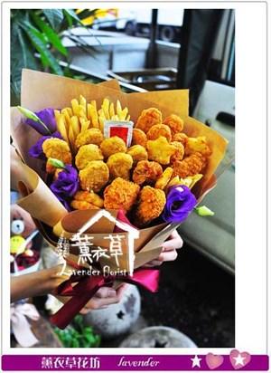 雞塊薯條花束設計106062309
