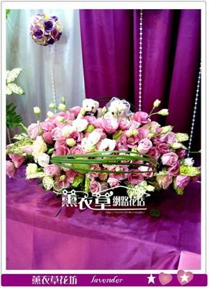 婚宴盆花設計F580