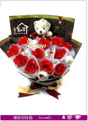 熱情紅玫瑰~不凋花C031001