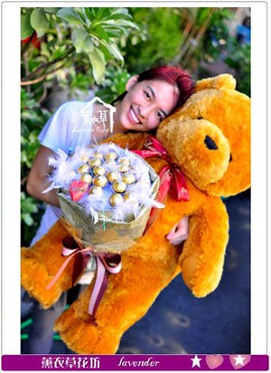 熊熊&20顆金莎c072913