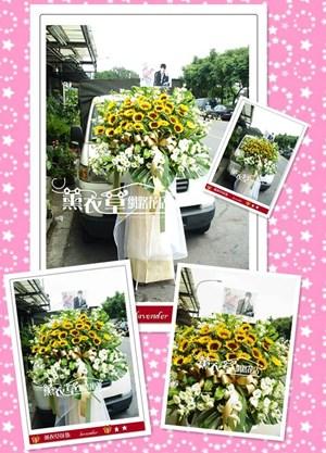 向日葵藝術花柱一個y7326