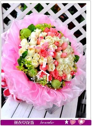 玫瑰花束60朵c111805
