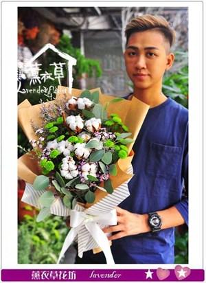 棉花&乾燥花花束 106091805