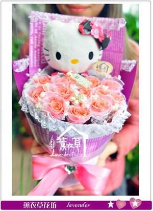 不凋花~粉玫瑰B123003