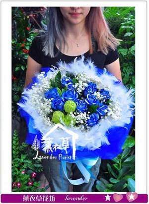 藍玫瑰11朵  106081208