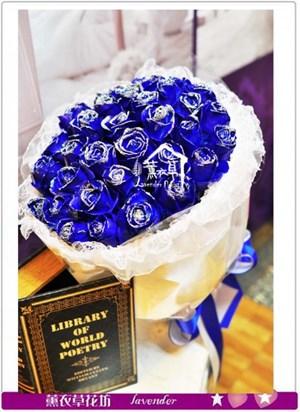 藍玫瑰20朵A121220