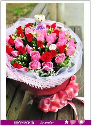 玫瑰花束~50朵b033005