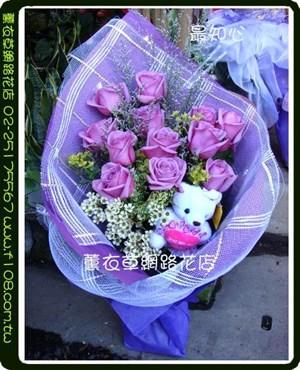 紫戀進口玫瑰11朵G1033