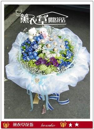 藍玫瑰花束y7031