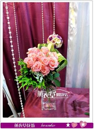 玻璃鮮花設計y34036