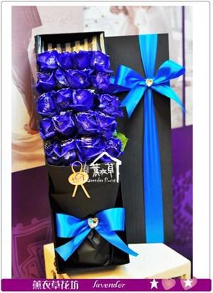 藍玫瑰花盒設計a110513