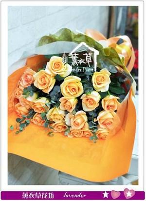 香檳20朵花束b121623