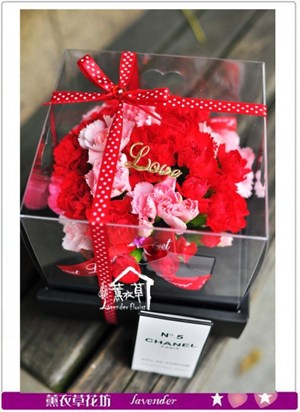 康乃馨花盒設計c051235