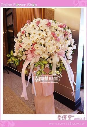 蘭花柱型藝術一對B0706