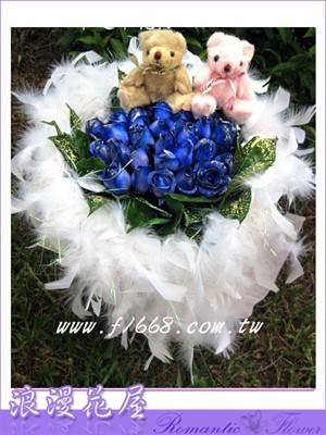 藍玫花束 A52