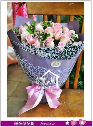 粉玫瑰花束B111520