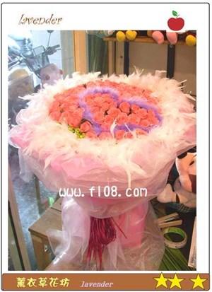 粉玫瑰99朵花束G623