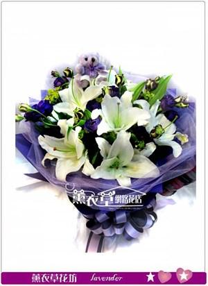 百合與紫桔梗~特賣 y34137