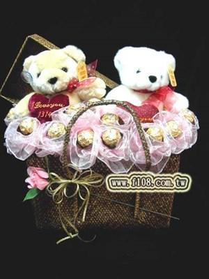 台北花店-花霖花坊-G140愛心熊熊花束