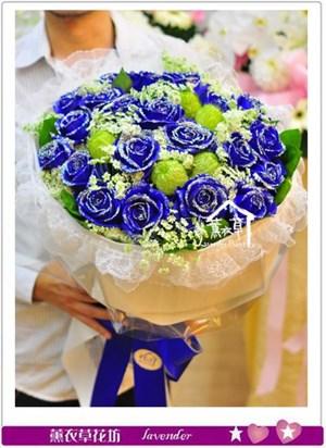 藍玫瑰花束b041530