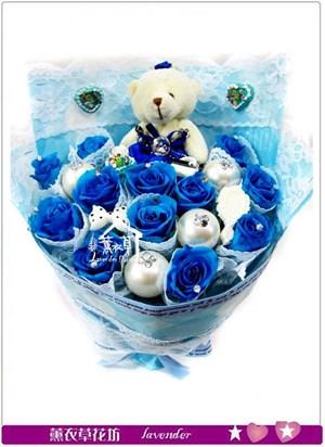 清新藍玫瑰~不凋花C031002