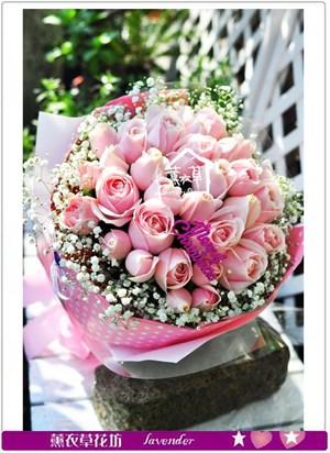 粉玫瑰花束c122418
