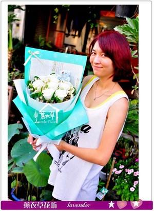 進口玫瑰花束c080708