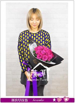 荷蘭空運 桃紫色玫瑰~新品 106120901