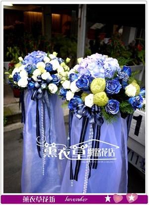 花籃藍玫瑰 設計2個y3848