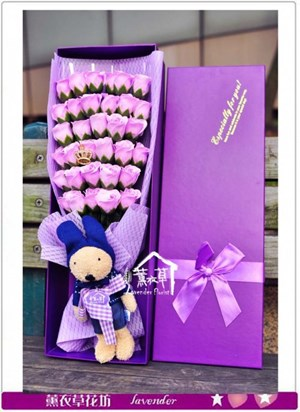 香氛玫瑰花盒a061212