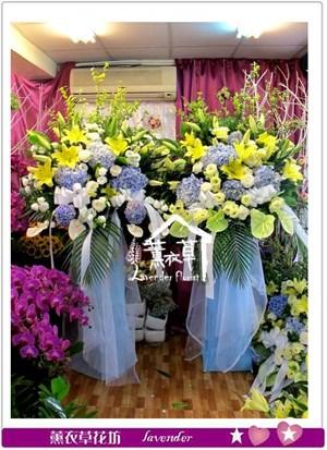繡球花藍設計一對aa653