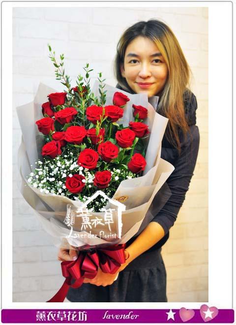 紅玫瑰花束B122403