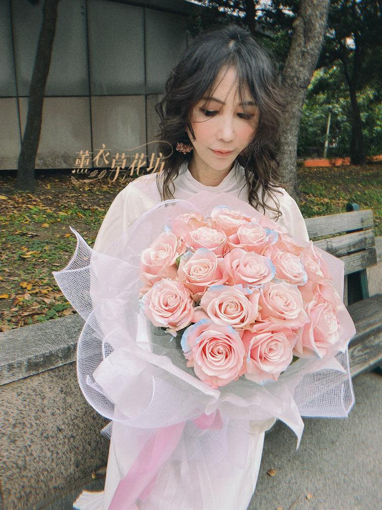進口粉玫瑰~獨角獸色系玫瑰109020907