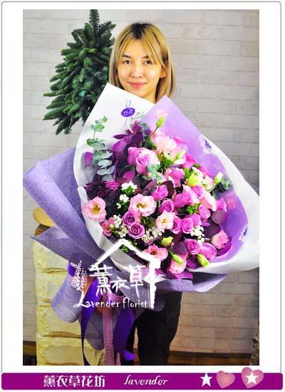 紫玫瑰花束 106122419