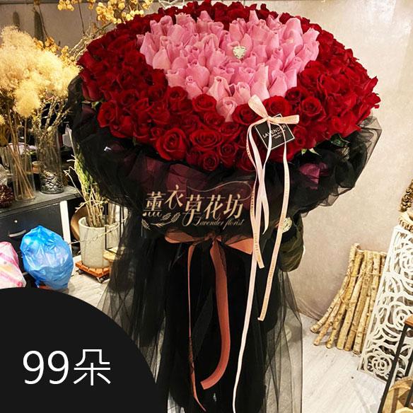 99朵,花束,浪漫,求婚,愛