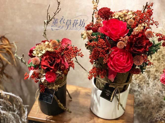 盆花~乾燥花設計一盆108011308