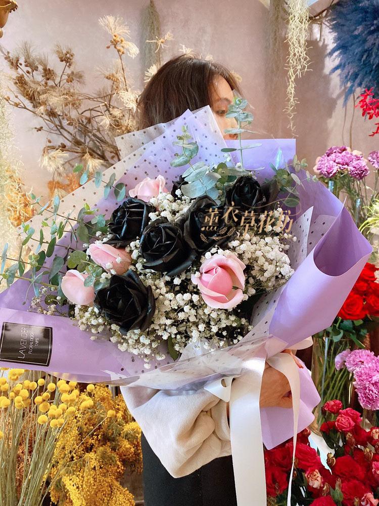 黑玫瑰&粉玫瑰1花束 08030609